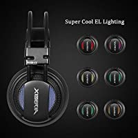 XIBERIA USB-V10+ PS4 Headset-Stereo Gaming Headset-Xbox One Headset,Noise Isolation Wired Over Ear Stereo Gamer Headphones with Microphone and Volume Contro for PC/Xbox One/PS4/Skype/Webinar/Phone by XIBERIA