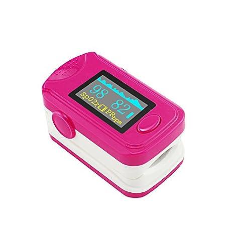 Denshine Oxímetro de pulso de dedo, OLED, memoria de 24 ...