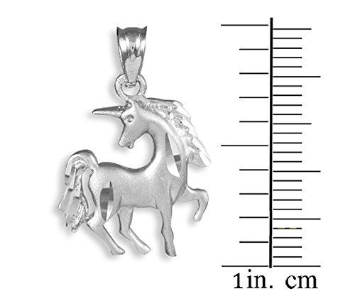 10 ct 471/1000 Diamant Coupe Or Blanc UniMais- Pendentif