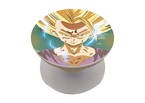DBZ Expanding Pop Out Stand and Grip Holder For Smartphones and Tablets- Rick and Morty, Red, White, Black, Goku, Gohan, Vegeta, Pickle Rick (Gohan)