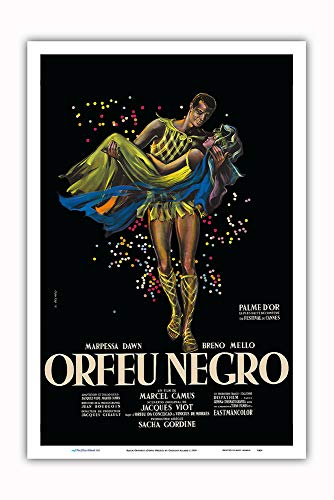 Pacifica Island Art - Black Orpheus (Orfeu Negro) - Directed by Marcel Camus - Vintage Film Movie Poster by Georges Allard c.1959 - Master Art Print - 12in x 18in ()