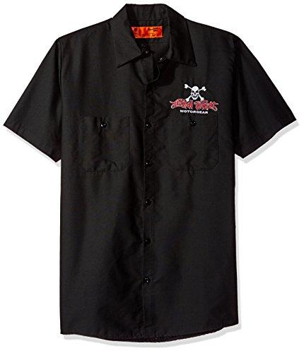 Lethal Threat (WS40302M Men's 'FREEDOM ISN'T FREE EAGLE' Work Shirt (Black, ()