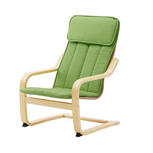 IKEA POANG Children's Armchair, Birch Veneer, Almas Green