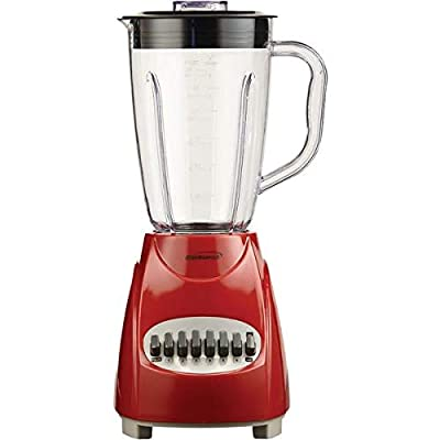 Brentwood(r) Appliances Jb-220r 50-Ounce 12-Speed + Pulse Electric Blender With Plastic Jar (red)