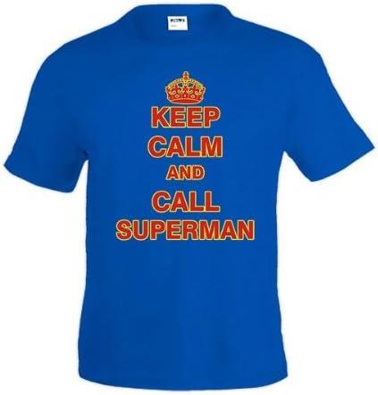 Mx Games Camiseta Keep Calm and call Superman (Talla: TALLA-M): Amazon.es: Juguetes y juegos