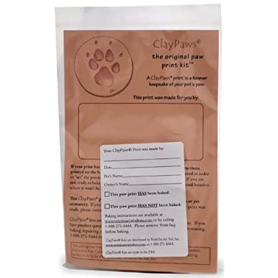 Claypaws Paw Print Kit Terra Cotta Clay: Toys & Games