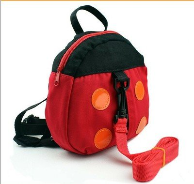 Price comparison product image Katoot@ Baby harness kids keeper Cartoon Backpacks Animal Daysack, Ladybug for Children, Strap Bag, Anti-lost Walking Wings Dropshipping (Black)