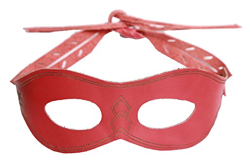 Roy Harper Arrow Costume (XCOSER Arrow Oliver Eye Mask Props for Halloween Costume Red)