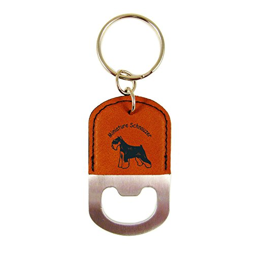 Miniature Schnauzer Cropped Ears Bottle Opener Keychain K3555 (Schnauzer Cropped)