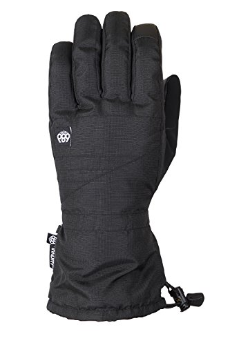 686 Men's Gauntlet Softshell Glove | Waterproof Ski and Snowboard Gloves | Black - L ()