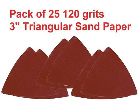 Pack 25 Sandpaper 120 Grits 3