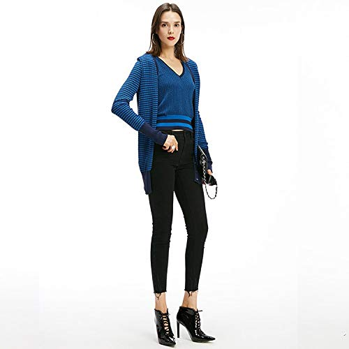 L Nero Consumati Mvguihzpo Donna Jeans Pantaloni Piccoli Slim Xs E Scarpe Vita Alta 1FPaq
