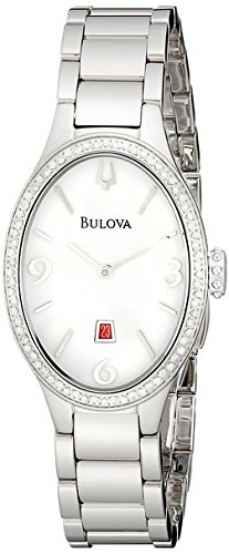 Bulova Women's 96R192 Analog Display Analog Quartz Silver ()