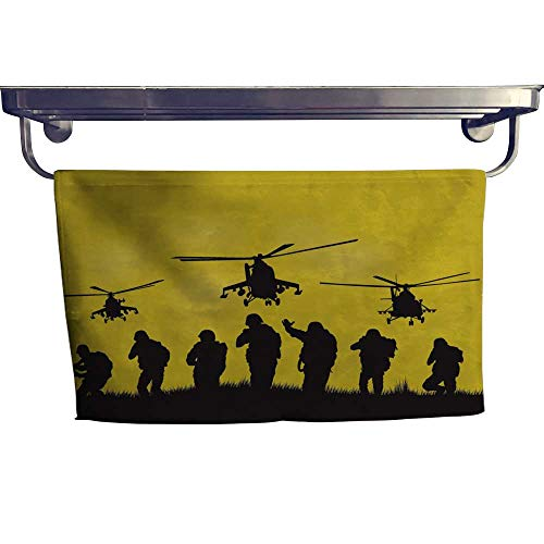 Leigh home Sports Ttowel,The siers go to Attack Helicopters ,Ultra Soft, Cozy and Absorbent W 27.5