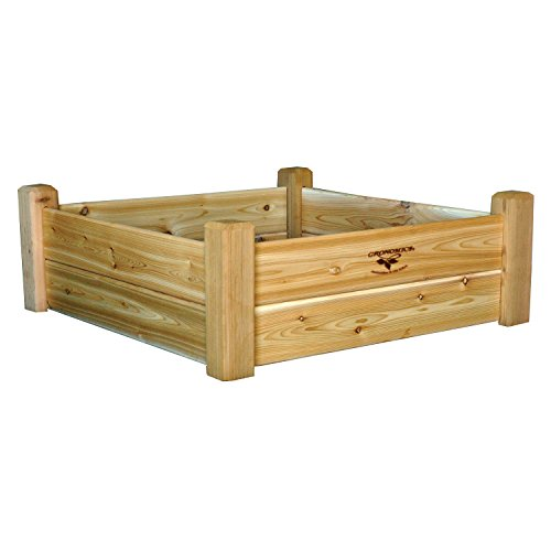Gronomics RGB 34-34 34-Inch by 34-Inch by 13-Inch Raised Garden Bed, Unfinished