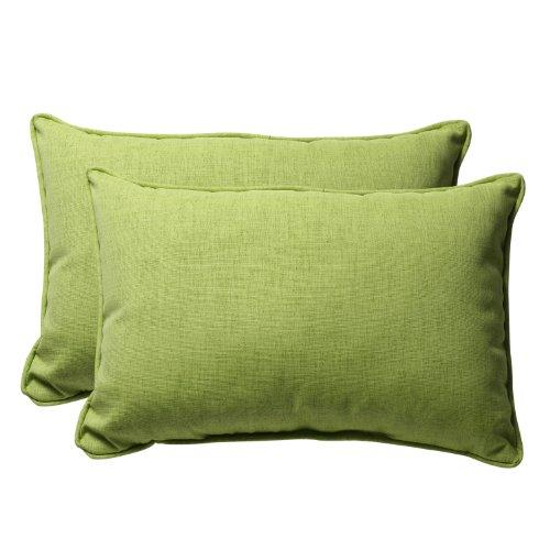 (Pillow Perfect Decorative Green Textured Solid Rectangle Toss Pillow, 2-Pack)