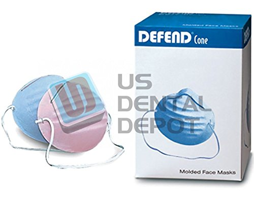 DEFEND- Premium Ear-Loop Molded Mask Blue 50 Box - MK-1036 113606 Us Depot by DEFEND