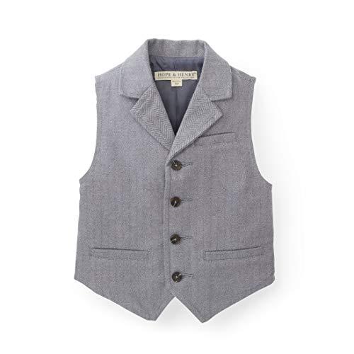 Hope & Henry Boys Herringbone Suit Vest Gray