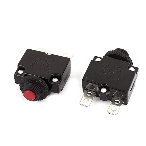 Aexit 2pcs ABR21-16 Electrical Boxes, Conduit & Fittings AC 250V 10A Circuit Breaker Current Overload Protector Switch Electrical Boxes Red Button