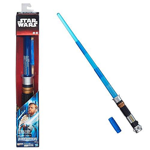 Star Wars Obi-Wan Kenobi Electronic Light Saber w/ Lights & Sound Hasbro (Star Wars Obi Wan Light Saber)