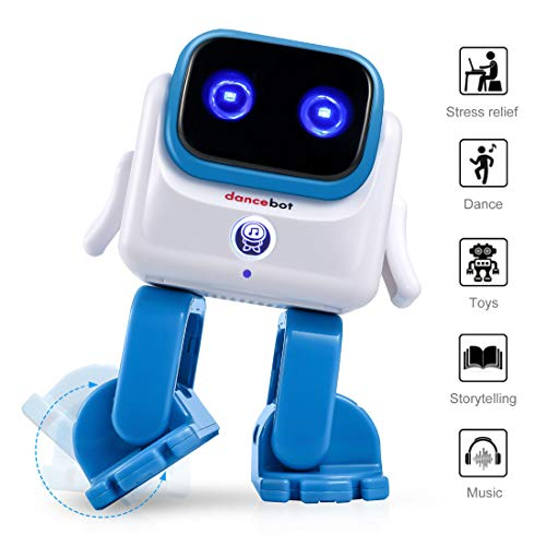 ECHEERS Smart Bluetooth Dancing Robot Speaker Office/Work/Learning Anxiety Stress Relief & Intelligent Entertainment Electronic Robot Toys for Kids Adults Fun Gifts (Blue)