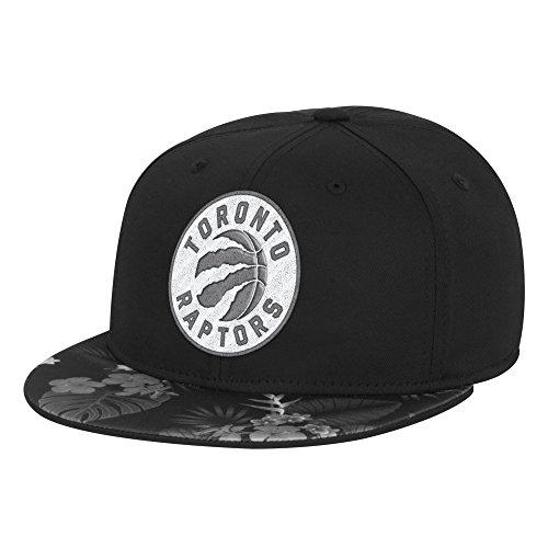 Toronto Raptors Flat (NBA Toronto Raptors Men's Fanwear Hawaiian FVF Cap, Small/Medium, Black)
