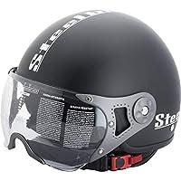 Steelbird Bike Riding Helmet-SB 27 Matt Black with Plain Visor-Large