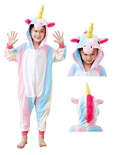 Kids Unicorn Cosplay Onesies Costume,Child Cute One Piece Animal Pyjamas Multicolor 2-4 -