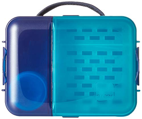 Nude Food Movers by Smash 20651 Blue Stars Reusable Lunch Box, Navy ()
