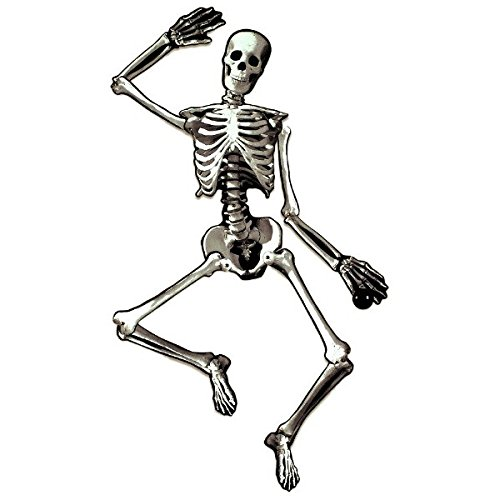 Eerie Boneyard Halloween Party Jointed Skeleton Cutout Decoration, Cardboard, (Eerie Halloween Decorations)