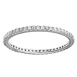 10k White Gold Eternity Diamond Wedding Band (1/3 cttw, I J Color, I2 I3 Clarity)