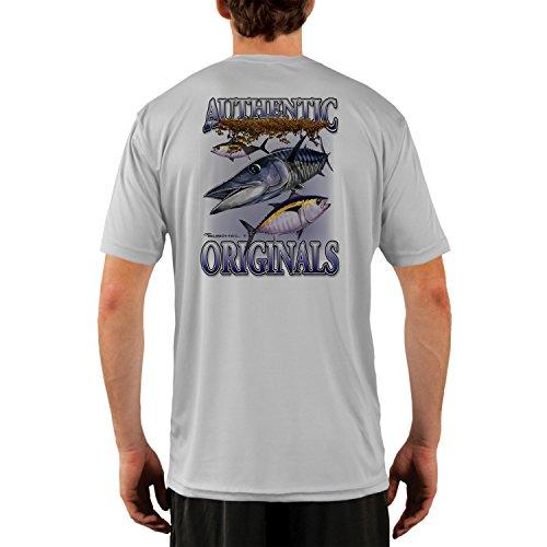 - Authentic Original Wahoo Men's UPF 50+ UV/Sun Protection Performance T-Shirt Small Pearl Grey