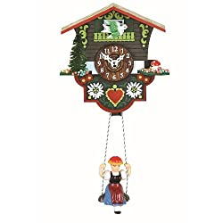 Trenkle Kuckulino Black Forest Clock Swiss House with quartz movement and cuckoo chime TU 2014 SQ