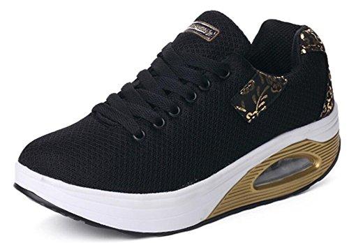 Scarpe Da Donna Per Adulti Mesh Walking Scarpe Da Ginnastica Moda Sneakers Black-2