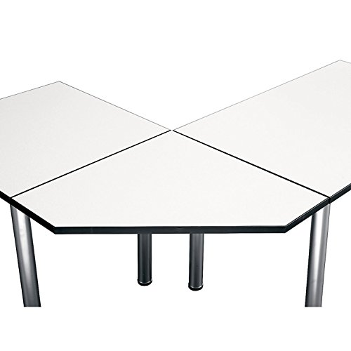 Bush Business Furniture Aspen Tables 28-1/2W Corner Connector in White - Modular Table Conference