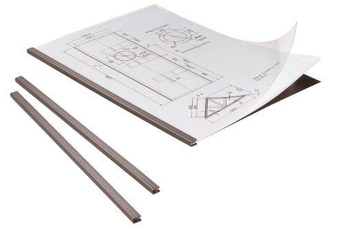 Durable 294201 Klemmschienen-Set Duragrip, für 1-15 Blatt DIN A4, schwarz