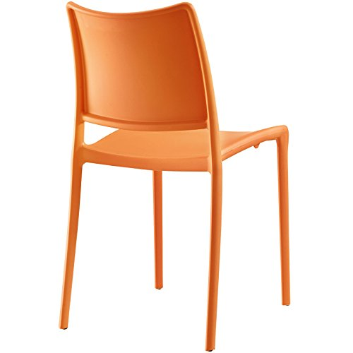 Modway Hipster Dining Side Chair (Set of 2), Orange