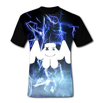 HeroTees Flame Marsh DJ Mens T-Shirts 3D Galaxy Printed Tee Shirt Large