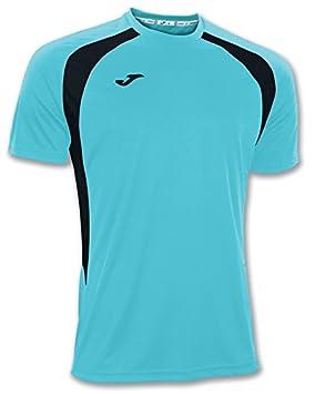 Joma Ropa de Deporte Camiseta Champion III Jersey Futbol Man Kid Size M Color Turquesa Fluor-Ngro: Amazon.es: Deportes y aire libre