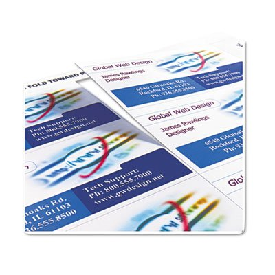 Two-Side Printable Clean Edge Business Cards, Inkjet, 2 x 3 1/2, White, 200/Pack, Sold as 200 Each