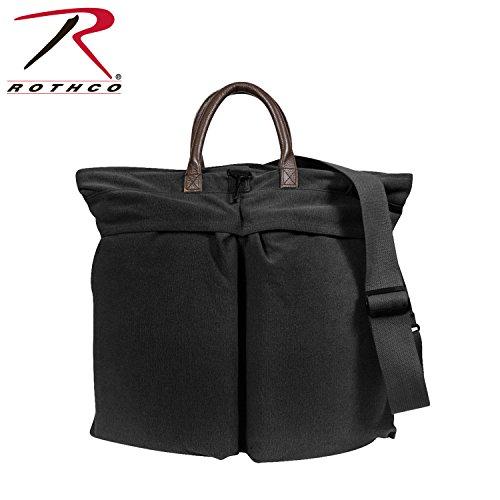 Rothco Vint Canvas/Leather Helmet Shoulder Bag, Black