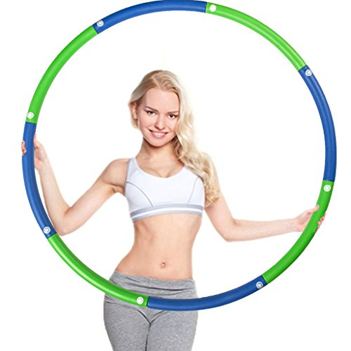 Minch Weighted adult Hula Hoop, Perfect for Dancing Exercise Fitness and Weight Loss 3lb (Blue-Green)