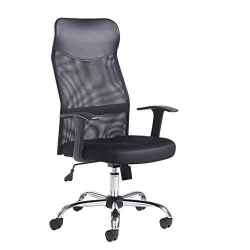 Ergonomicas de oficina silla de respaldo alto de malla silla de escritorio con altura ajustable del asiento, Tension de inclinacion, soporte lumbar y reposacabezas ancha Tao-Miy