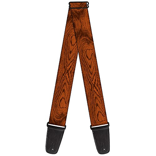 Guitar Wood Straps (Buckle-Down Guitar Strap - Wood Grain Cherry Wood - 2