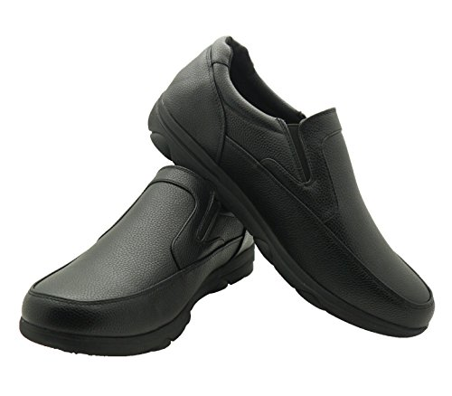 Professional Health Club (Faranzi Men's Professional Nonslip Comfort Work Black Shoe, Water and Oil Resistant 9 D(M) US)