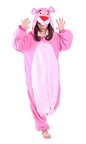 Heartgown Hooded Animal Onesie Pajamas Cosplay Pink Pink Leopard M