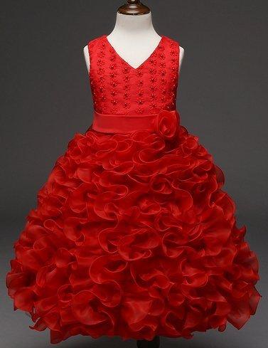ragazze 122 da Principessa 128 Rosso Seta 104 Pizzo Chiffon sposa Abiti da formale sposa per da sposa Abiti 140 134 Abiti 116 XPwtTqn