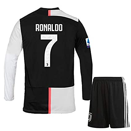 timeless design 08413 10a20 ## Ronaldo 7 Printed Juventus Jersey 2019-20 /SERIA A Juventus Home Full  Sleeves Football Jersey with Shorts/Imported Master Quality