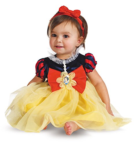 UHC Baby Girl's Snow White Princess Infant Fancy Dress Outfit Halloween Costume, 6-12M (Snow White Costume For Infant)