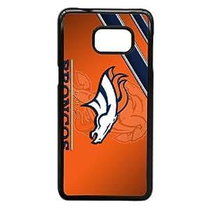 Denver Broncos N7C6Br Funda Samsung Galaxy S6 Edge Plus Nota 5 Borde caja del teléfono celular Funda Funda caja del teléfono celular Negro F6B1SW único personalizado
